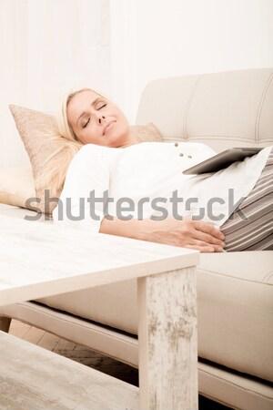 Gelişen iş plan kadın Stok fotoğraf © Spectral