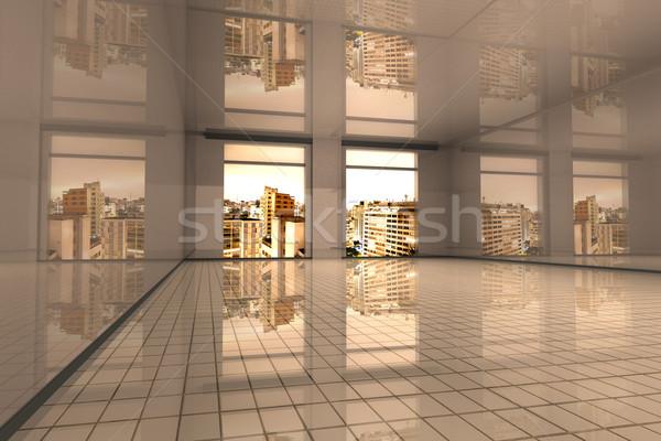 Sao Paulo lakás belső üres 3D renderelt Stock fotó © Spectral