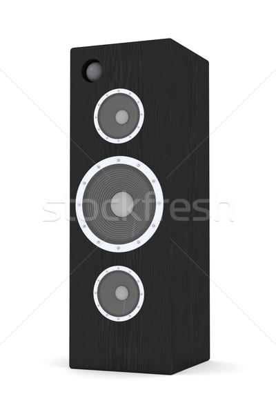 Oradores enorme 3d aislado blanco Foto stock © Spectral