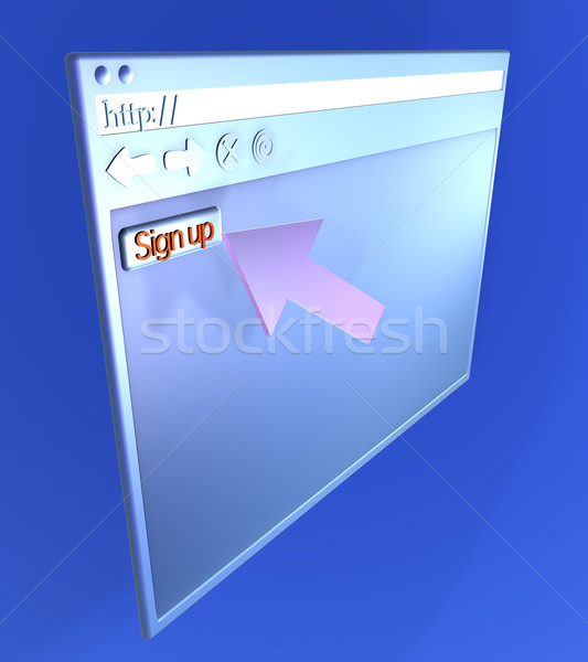 Browser Closeup - Signup
