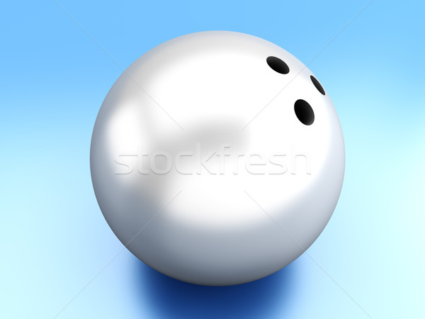 Bowlingkugel 3D gerendert Ball digitalen Grafik Stock foto © Spectral