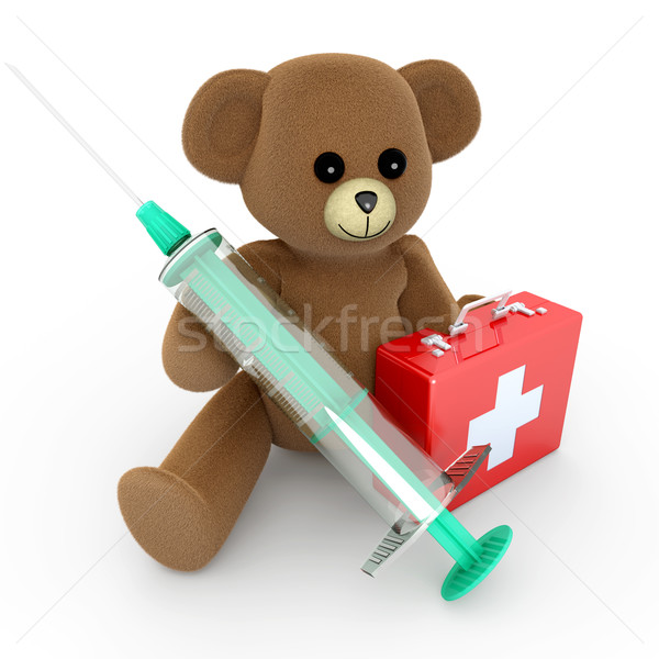 Sanitaria teddy medici orsacchiotto 3D reso Foto d'archivio © Spectral