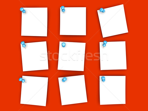 Pinned paper notes Stock photo © Spectral