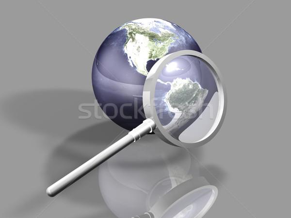 Globális keresés 3D renderelt illusztráció textúra Stock fotó © Spectral