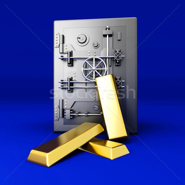 золото депозит инвестиции 3D оказанный иллюстрация Сток-фото © Spectral