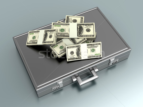 Briefcase with Cash Stock photo © Spectral