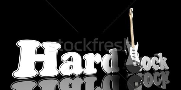 слово гитаре 3d иллюстрации металл рок звук Сток-фото © Spectral