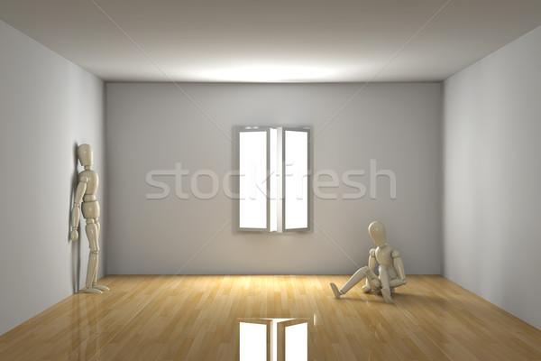 Boş oda melankolik 3D render iç ev Stok fotoğraf © Spectral