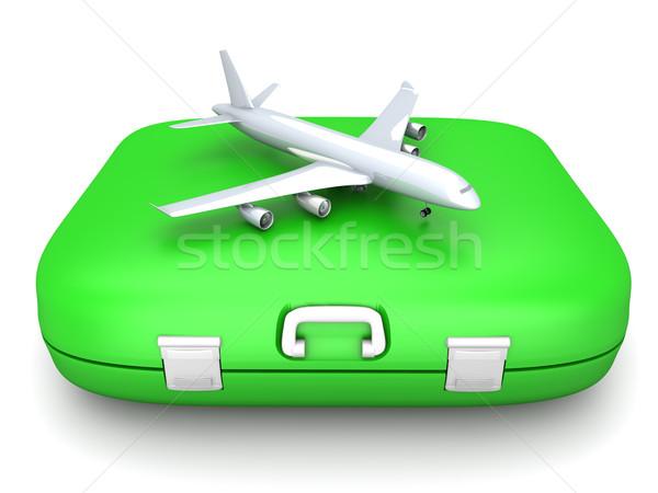Воздушные путешествия воздуха 3D оказанный иллюстрация Сток-фото © Spectral