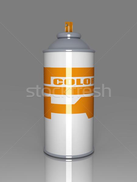 Cor aerossol lata 3D prestados ilustração Foto stock © Spectral