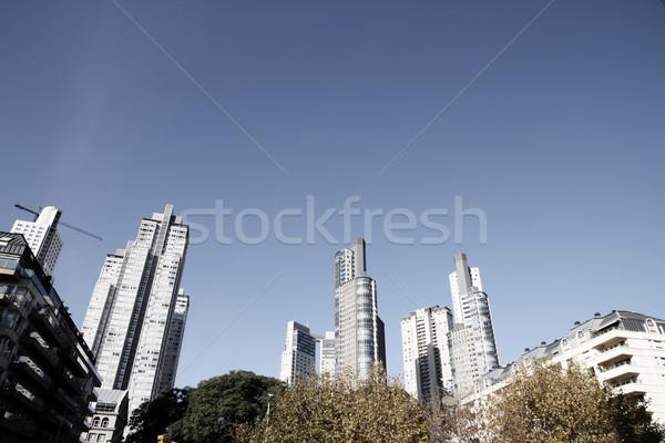 LA Buenos Aires felhőkarcolók Argentína üzlet égbolt Stock fotó © Spectral