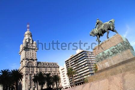 Montevideo Uruguay ağaç şehir inşaat palmiye Stok fotoğraf © Spectral