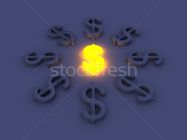 Glowing Dollar Stock photo © Spectral
