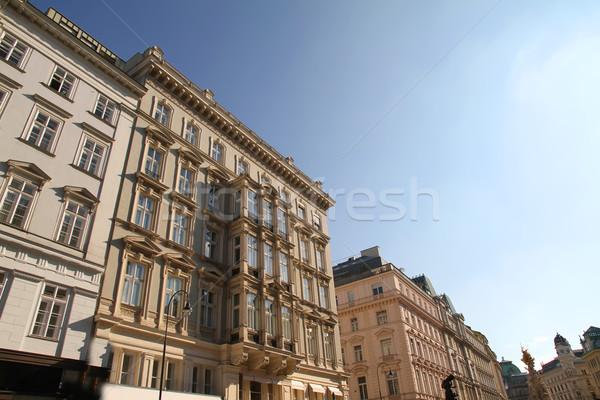 Historische architectuur centrum Wenen Oostenrijk Europa venster Stockfoto © Spectral