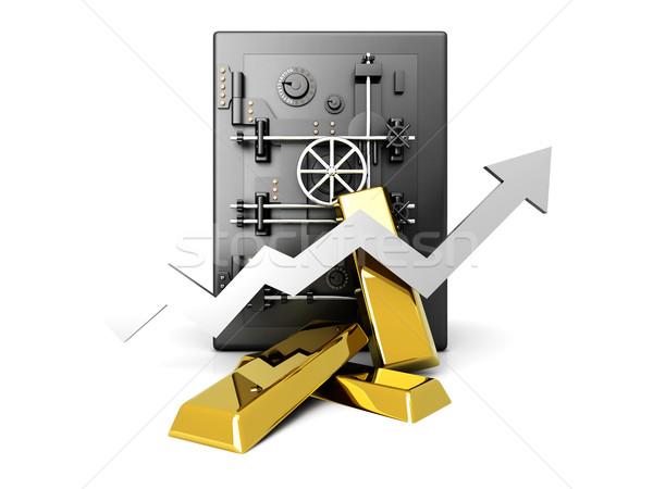 растущий золото депозит значение инвестиции 3D Сток-фото © Spectral