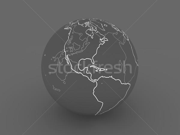Dark Globe - Americas Stock photo © Spectral