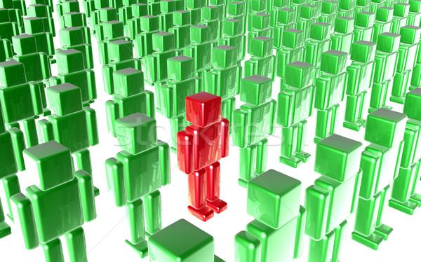 индивидуальный 3d иллюстрации выдающийся один бизнеса толпа Сток-фото © Spectral