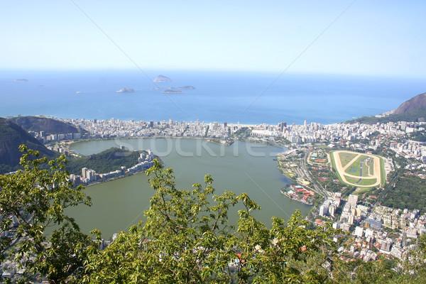 Rio de Janeiro város kilátás égbolt épület hegy Stock fotó © Spectral