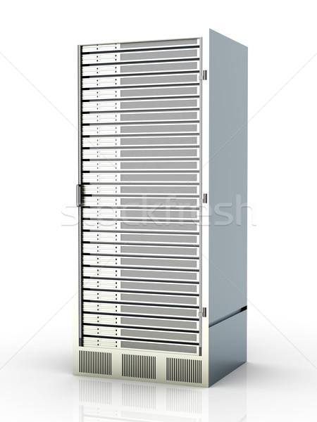 сервер башни 3D оказанный иллюстрация изолированный Сток-фото © Spectral