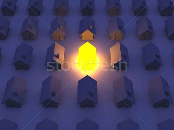 Сток-фото: игрушку · дома · 3D · оказанный · иллюстрация