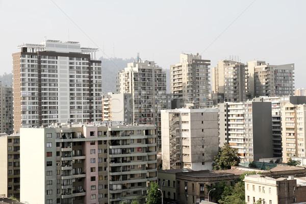 Stok fotoğraf: Binalar · Santiago · Şili · güney · amerika · şehir · inşaat