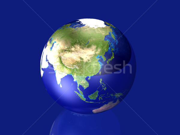 Glassy Globe - Asia	 Stock photo © Spectral