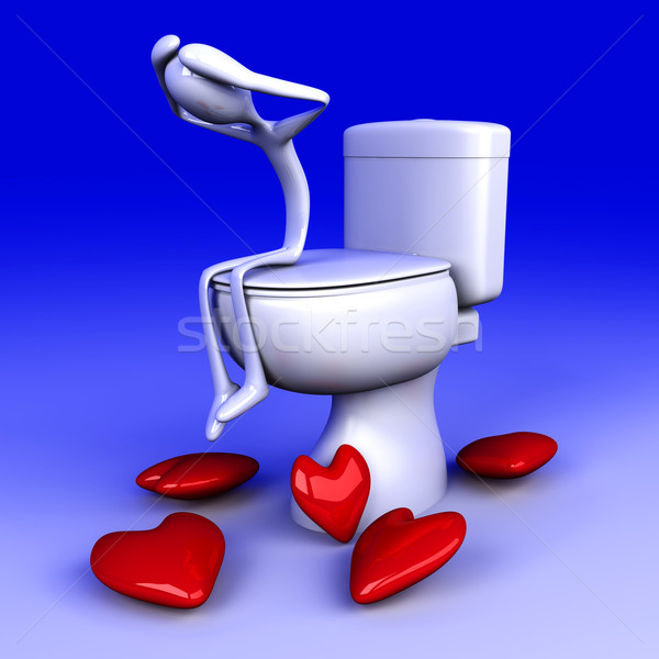 Lovesick in the restroom Stock photo © Spectral