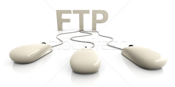 Ftp 3D rendu illustration connexion internet Photo stock © Spectral