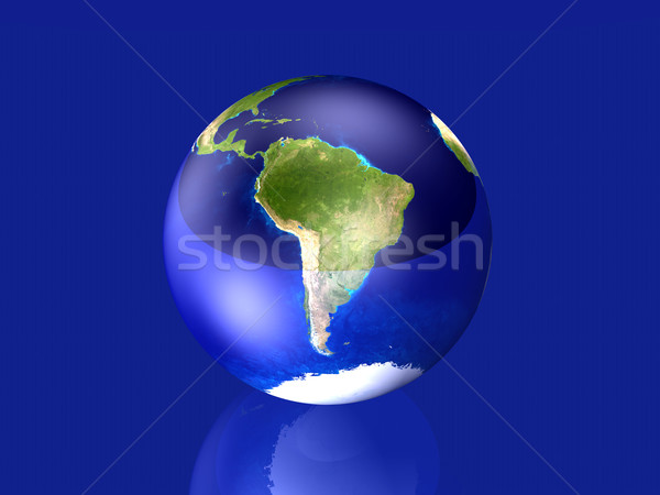 Glassy Globe - South America	 Stock photo © Spectral