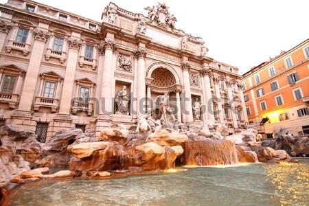Trevi Çeşmesi çeşme Roma İtalya Avrupa su Stok fotoğraf © Spectral