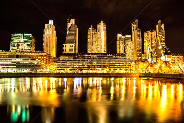 Buenos Aires éjszaka híres környék Argentína építkezés Stock fotó © Spectral