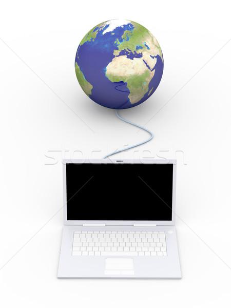 świat 3D świadczonych ilustracja Ethernet świecie Zdjęcia stock © Spectral