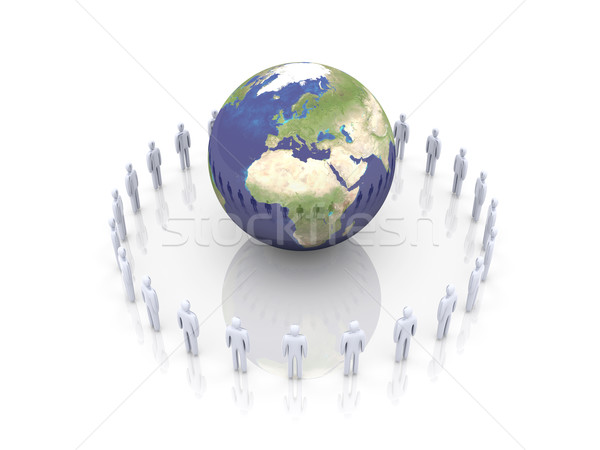 Global Team - Europe, Africa Stock photo © Spectral