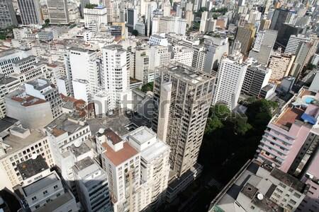 Sziluett Sao Paulo Brazília város utazás épületek Stock fotó © Spectral