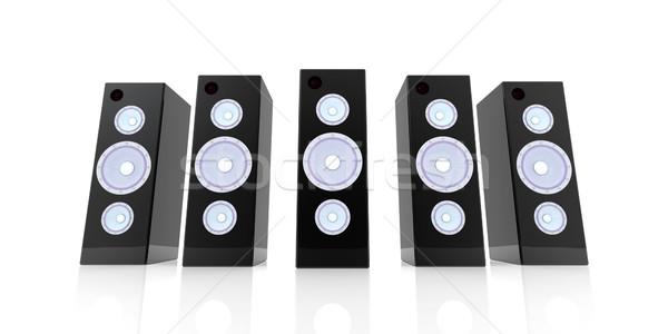 Black Speakers Stock photo © Spectral