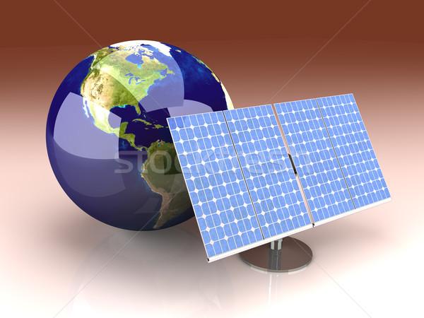 Foto stock: Alternativa · energía · América · 3D · prestados · ilustración