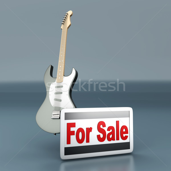 Stock photo: Guitar for Sale