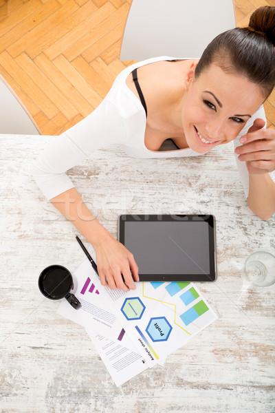 развивающийся бизнеса плана женщину Сток-фото © Spectral