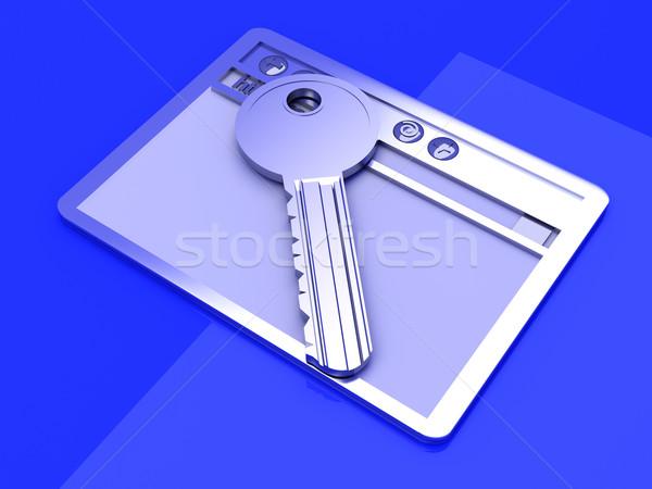 Beveiligde verbinding browser venster sleutel www Stockfoto © Spectral