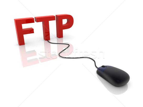 Ftp 3D оказанный иллюстрация связи интернет Сток-фото © Spectral