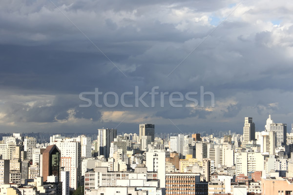 Sziluett Sao Paulo kilátás Brazília város utazás Stock fotó © Spectral
