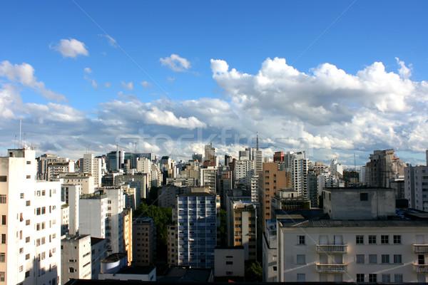 Sziluett Sao Paulo Brazília város utazás városi Stock fotó © Spectral