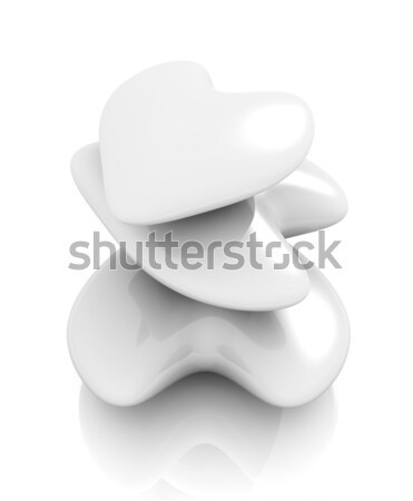 White Hearts Stock photo © Spectral