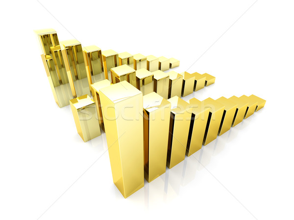 Stock photo: Gold charts