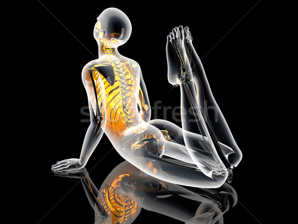 Stockfoto: Koning · cobra · 3d · illustration · sport · fitness