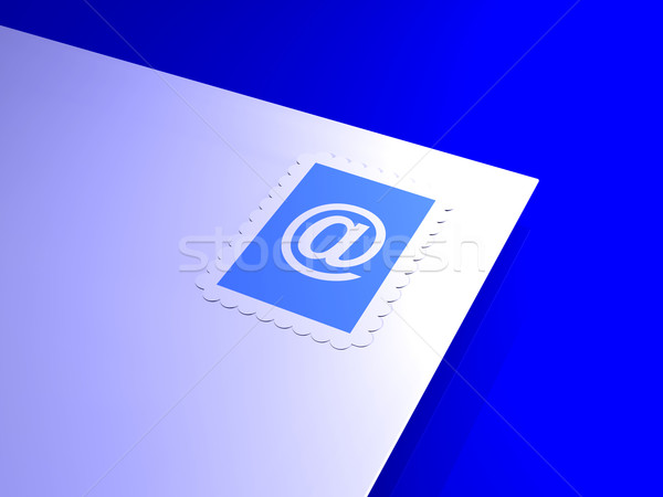 электронная почта письма 3D оказанный иллюстрация интернет Сток-фото © Spectral