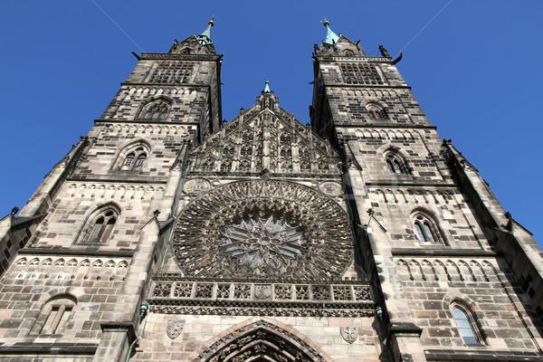 Catedral edificio ciudad puerta iglesia Foto stock © Spectral