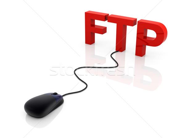 Ftp 3D prestados ilustración conexión Internet Foto stock © Spectral