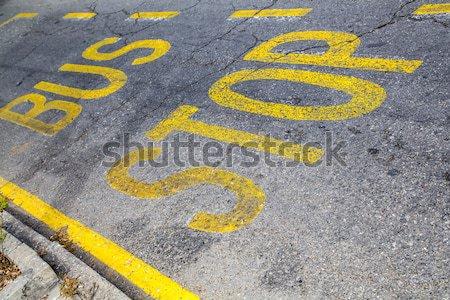Parada de ônibus escrito rua textura cidade pintar Foto stock © Spectral
