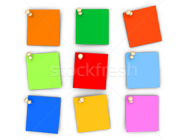 Colorful paper notes Stock photo © Spectral